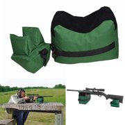 Portable Shooting Range Sand Bag Set Front & Rear Rifle Gun Bench Rest Stand Front Rear Bag