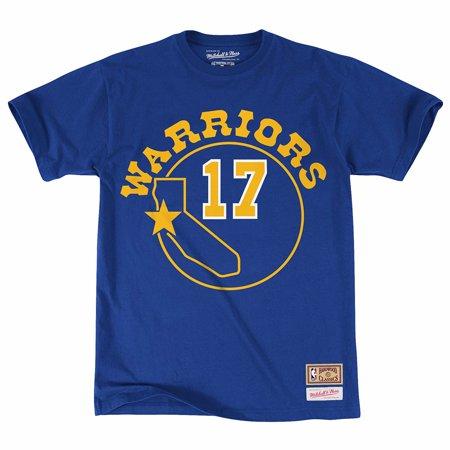 Hardwood Classics Vintage Tee - Chris Mullin Golden State Warriors NBA Mitchell & Ness Blue Hardwood Classics Player N&N Jersey T-Shirt For Men
