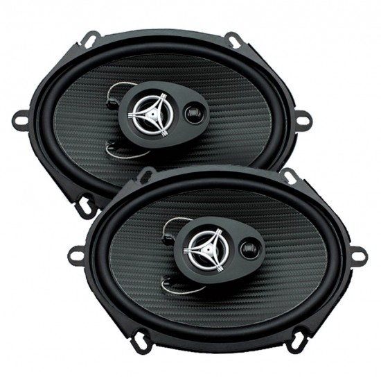 "Power Acoustik EF-573 Edge Series Coaxial Speakers (5"" x 7"", 3 Way, 500 Watts Max)"