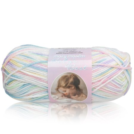 "Dk Weight Sock Yarn - Mary Maxim Baby's Best Yarn ""Rainbow"" 