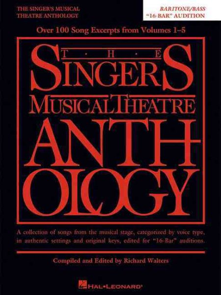 The Singer's Musical Theatre Anthology by Hal Leonard Publishing Corporation