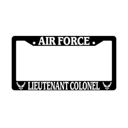 Air Force Lieutenant Colonel Black Plastic License Plate