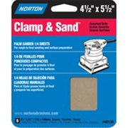 Norton 7660702057 Clamp-On General Purpose Multisand Sheet, 5-1/2 in x 4-1/2 in, Assorted Grit