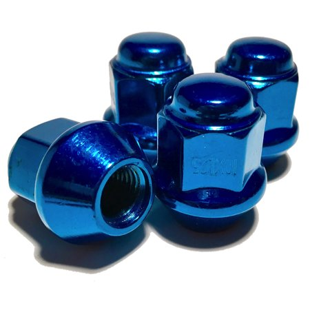 4 Blue Tapered Base 10x1.25 Lug Nut Set 17mm Hex ATV UTV For ITP Wheel Banshee