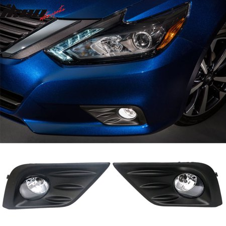 Fits 16-18 Nissan Altima 4Dr Sedan Fog Light Lamp and Fog Cover US - Altima 4dr Sedan