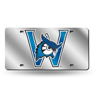 Westfield State Owls NCAA Mirrored Laser Cut License Plate Laser Tag