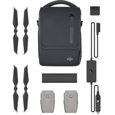 DJI Mavic 2 Fly More Kit - Comprehensive Drone Accessories for Mavic 2 Pro & Zoom (2 Intelligent Flight Batteries, Mavic 2 Car Charger, Mavic 2 Shoulder Bag) + More
