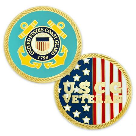 Us Coast Guard Challenge Coin - U.S. Coast Guard Veteran Commemorative Challenge Coin