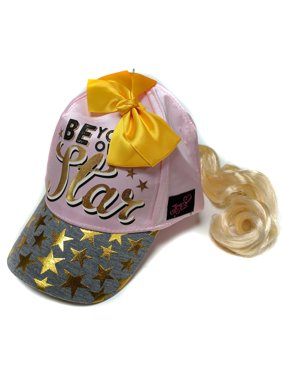 Nickelodeon Little Girls JoJo Siwa Collection Pink Cap w/Ponytail and Bow, Age 4-7