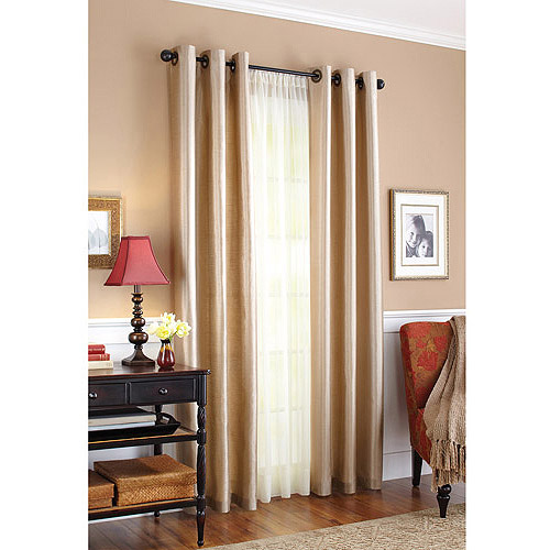 Better Homes and Gardens Faux Silk Grommeted Window Panel
