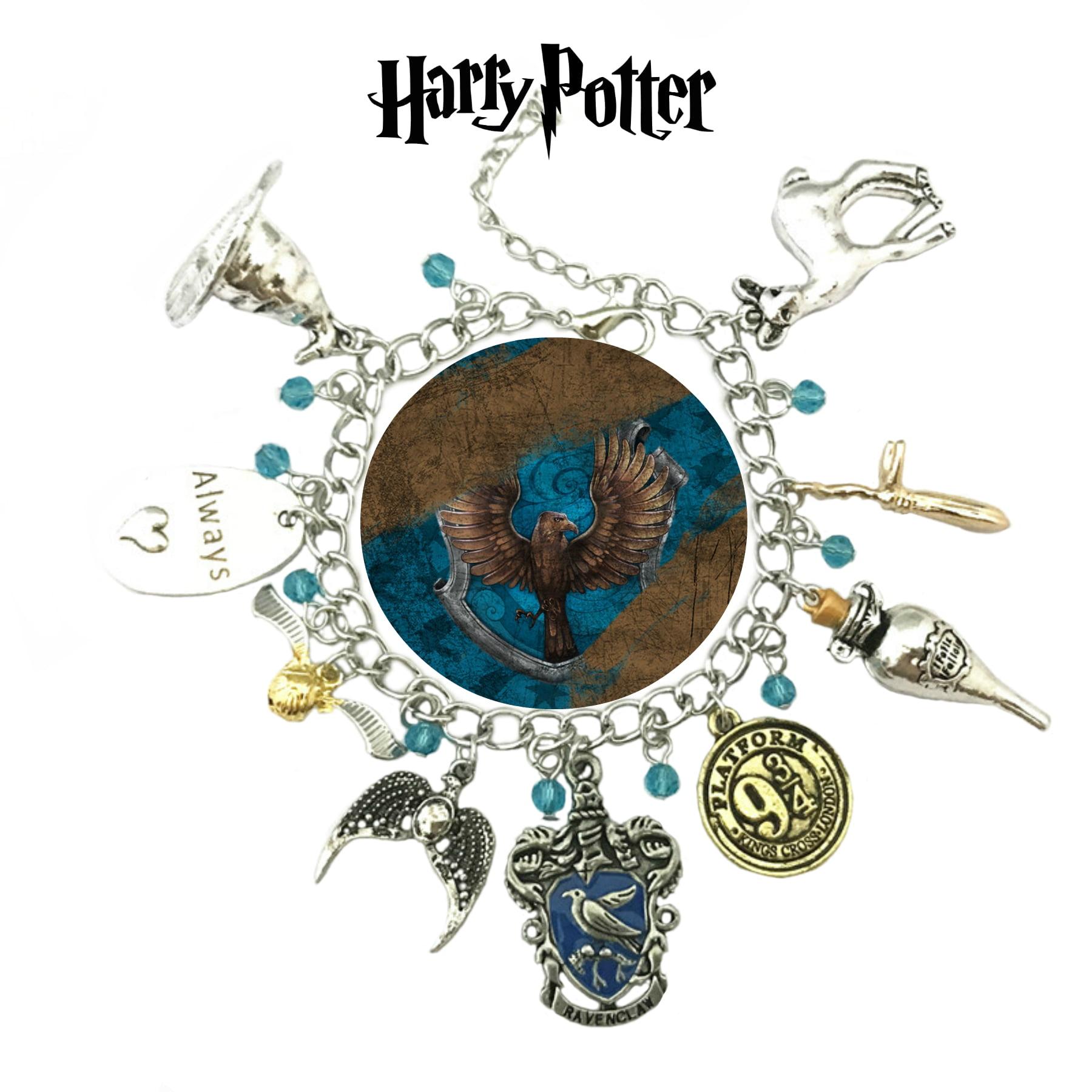 Charm BRACELET Harry Potter Inspired Jewellery Blue Ravenclaw Girls Fan Gift