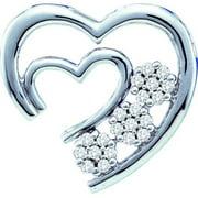 Gold and Diamonds PH2304-W 0.07CT-DIA HEART PENDANT- Size 7