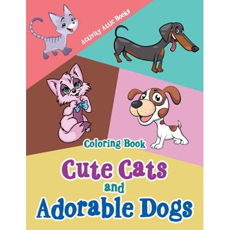 Cute Cats and Adorable Dogs Coloring Book - Coloring Page Of A Halloween Cat