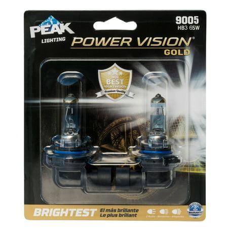 PEAK Lighting Power Vision Gold 9005 HB3 65W Brightest White Headlight