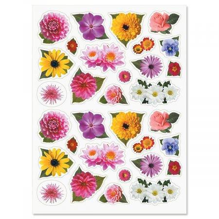 """Spring Blossom Top Stickers - 64 Flower Stickers on two 8-1/2"""" x 11"""" sheets, Great For Teachers, Students, Scrapbooking, and More"""