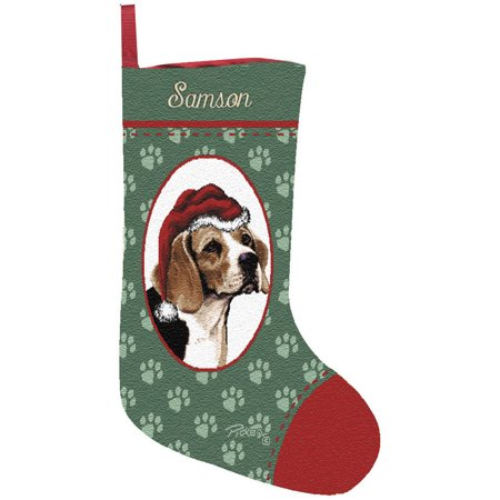 Personalized Dog Breed Christmas Stocking, Assorted Breeds