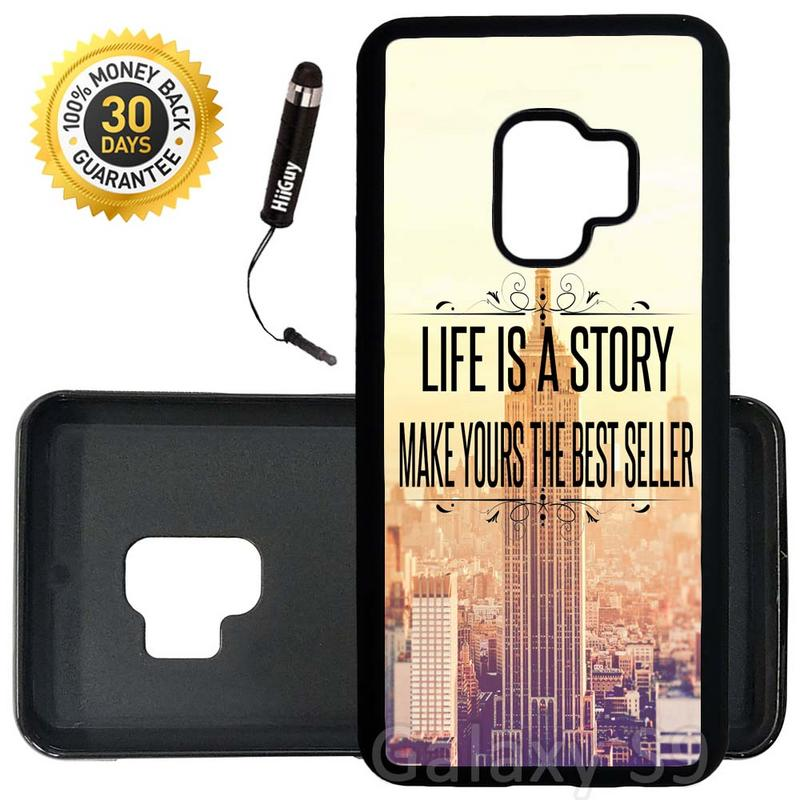 Custom Galaxy S9 Case (Life Quotes Unique Inspirational) Edge-to-Edge Rubber Black Cover Ultra Slim | Lightweight | Includes Stylus Pen by Innosub