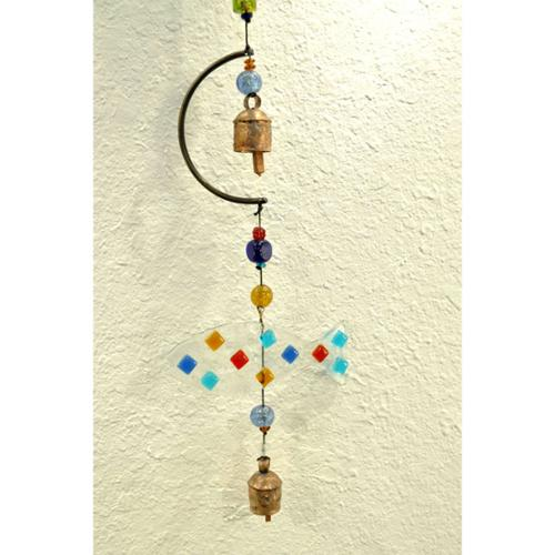 Maharani Imports Handmade Glass Fish Wind Chime (India)