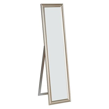Elisabetta full length standing mirror with decorative design champagne - Full length decorative wall mirrors ...