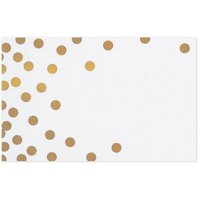 Metallic Gold Dots on White Gloss Enclosure Cards / Gift Tags - 3-1/2in. x 2 1/4in. - 50 Pack