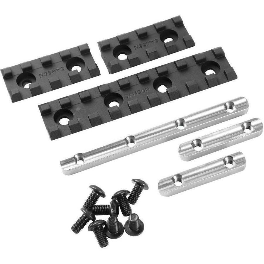 """Samson EVO-2-KIT Evolution Rail Kit 2"""" (2 Rails) 2"""" 6061-T6 Anodized, Aluminum Black"""
