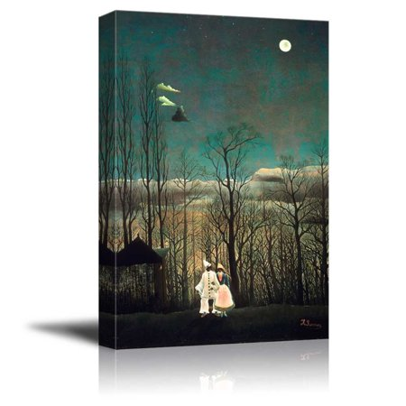 wall26 Carnival Evening by Henri Rousseau - Canvas Print Wall Art Famous Painting Reproduction - 24