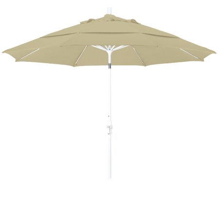 Fiberglass Matt White Manual Screen (Eclipse Collection 11 Fiberglass Market Umbrella Collar Tilt DV Matted White/Sunbrella/Ant.Beige)
