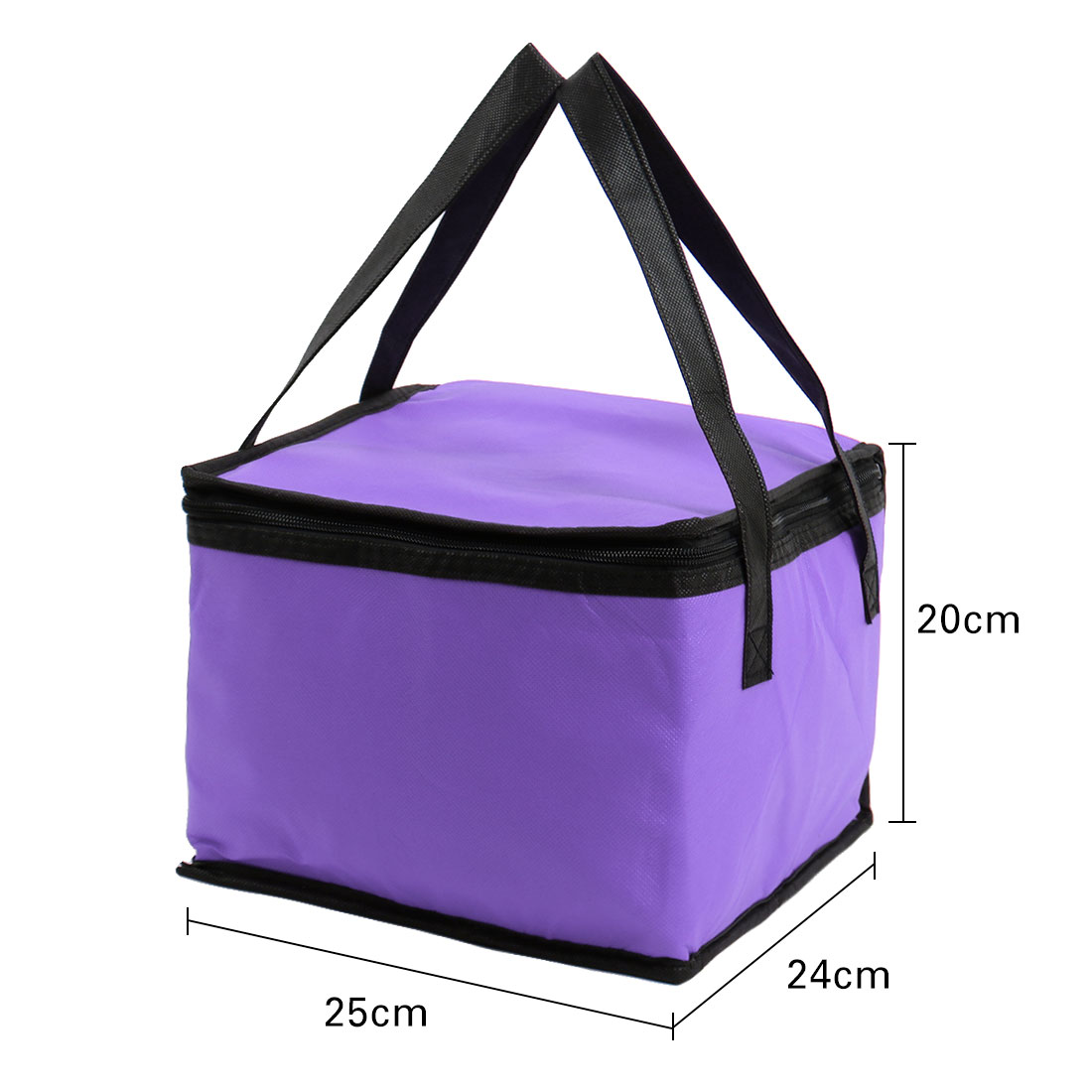 Unique Bargains Zipper Insulated Thermal Cooler Picnic Lunch Box Bag Carry Tote Storage Bag w Strap Coffee Color - image 1 de 6