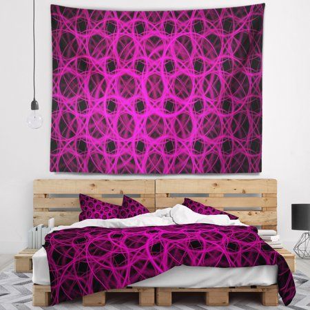 DESIGN ART Designart 'Pink Unusual Fractal Metal Grill' Abstract Wall Tapestry ()