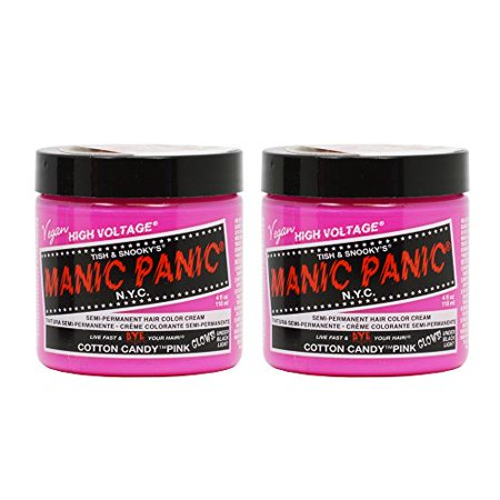 - Manic Panic Semi-Permanent Hair Color Cream - Cotton Candy Pink 4oz