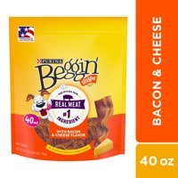 Purina Beggin' Strips Dog Training Treats, Bacon & Cheese Flavors - 40 oz. Pouch