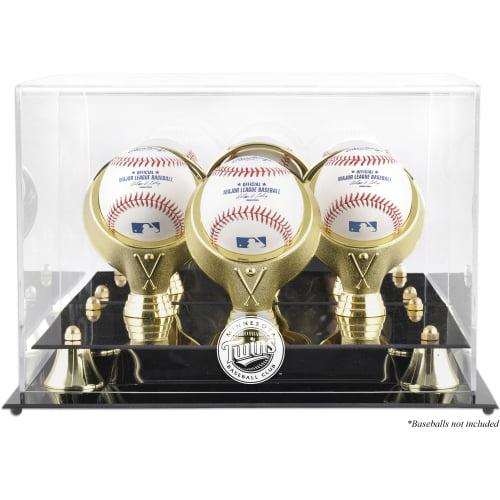 Minnesota Twins Fanatics Authentic Golden Classic Three Baseball Logo Display Case - No Size