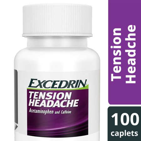 Excedrin Tension Headache Aspirin-Free Caplets for Head, Neck, and Shoulder Pain Relief, 100 (Best Medicine For Stiff Neck)