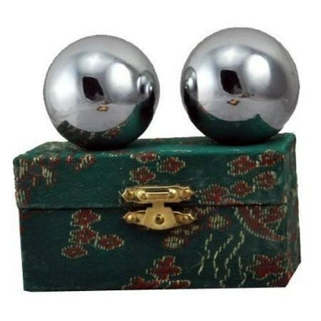 Chinese Stainless Steel Plain Chi Balls, Hand Massage Balls, Hand Massaging Balls, Cloisonne Balls, Baoding Balls 2