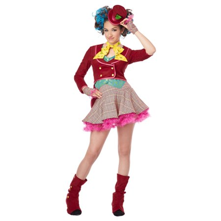 Girls Mad As A Hatter Tween Halloween Costume (Girl Mad Hatter Costumes)