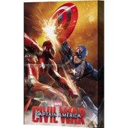 Pyramid America Captain America: Civil War Shield Spark Canvas Wall D cor
