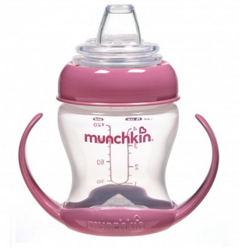 Munchkin Flexi-Transition 4 Ounce Cup - 1 Pack/Pink