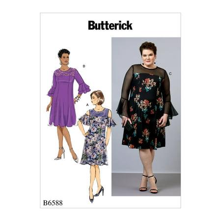- Butterick Pattern Women's Dress-18W-20W-22W-24W