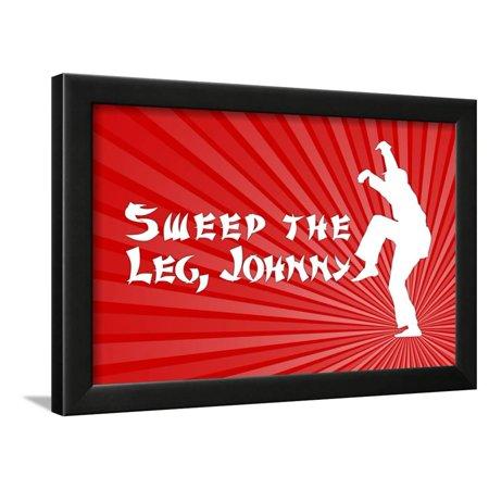 Johnny Karate Kid (Karate Kid Movie Sweep the Leg Johnny Poster Print Framed Poster Wall)