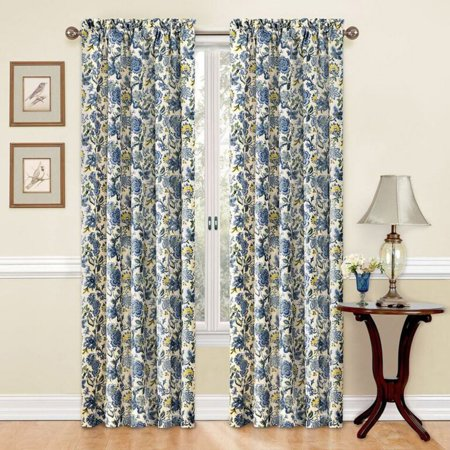 """84""""x52"""" Window Curtain Panel Blue - Traditions by Waverly"""