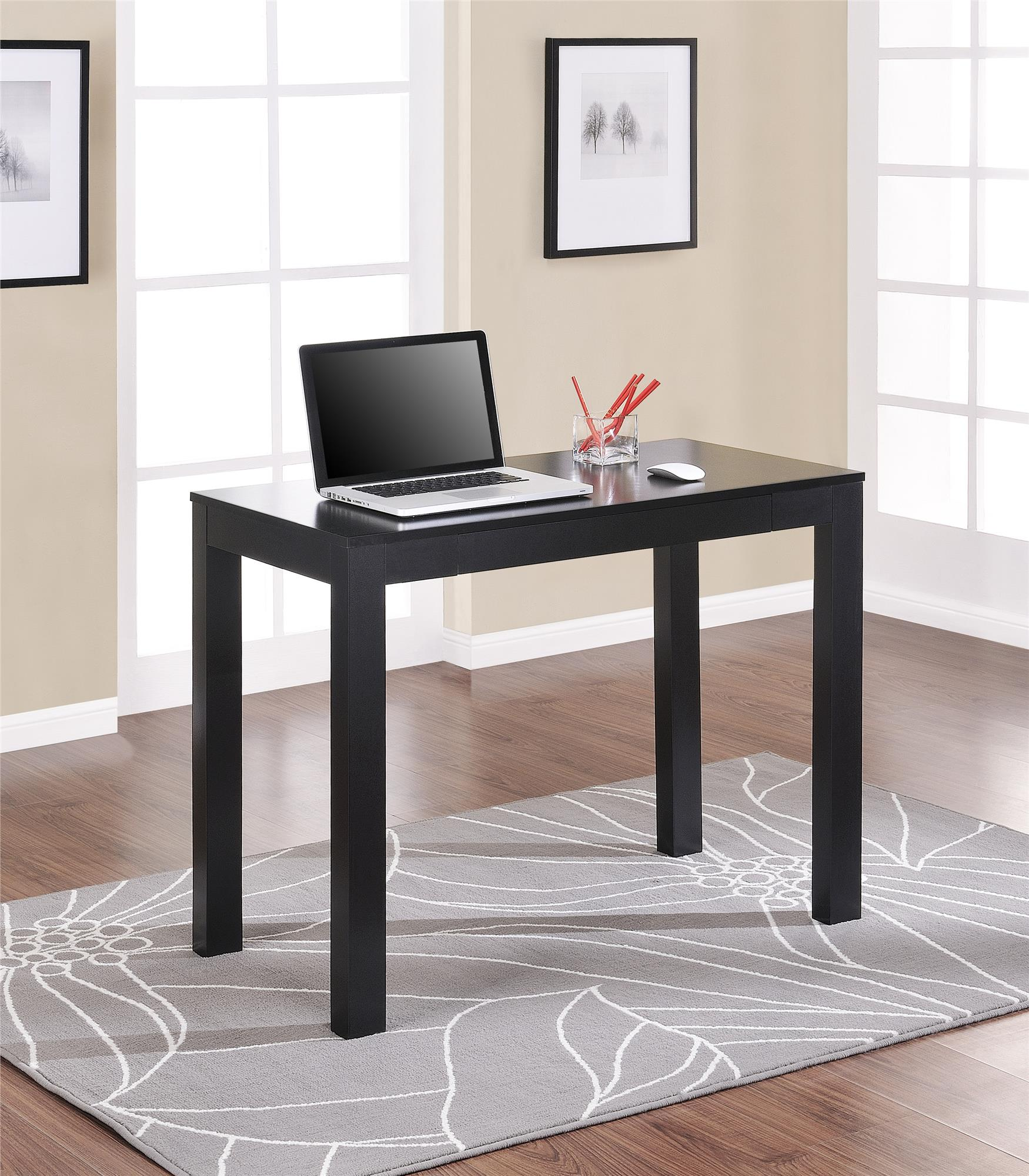 Parsons Desk With Drawer Instructions: Mainstays Parsons Desk With Drawer, Black