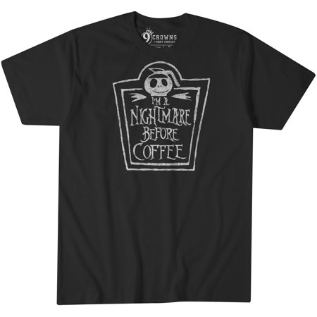9 Crowns Tees I'm A Nightmare Before Coffee Funny Anti-Social T-Shirt