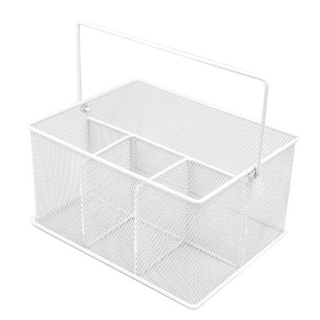 Sorbus Utensil Caddy Silverware, Napkin Holder and Condiment Organizer, Multi-Purpose Steel Mesh -