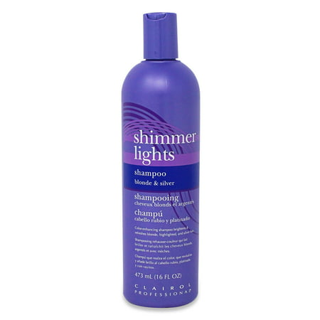 Clairol Professional Shimmer Lights Blonde and Silver Shampoo, 16 Fl Oz (Purple Shampoo And Conditioner)