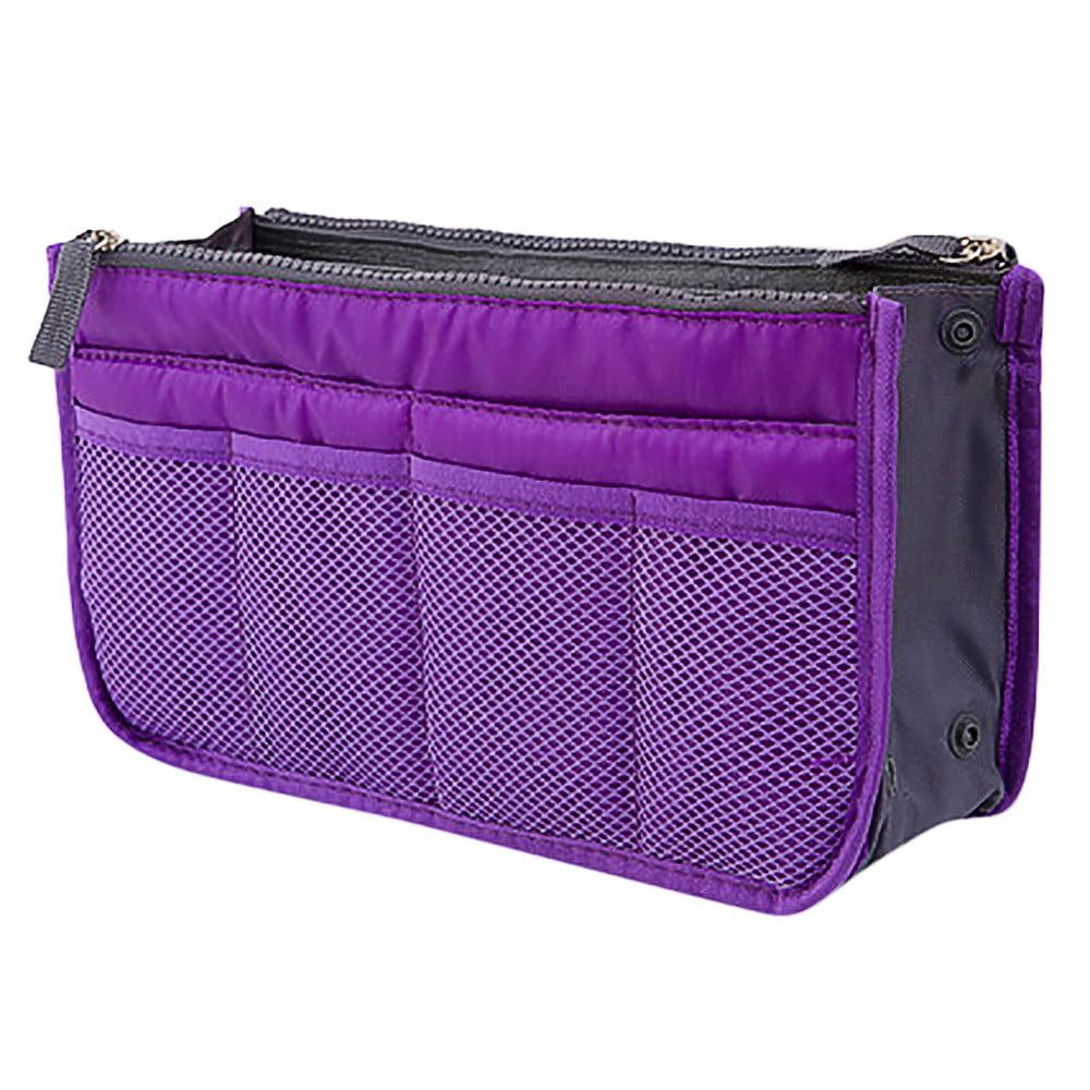 Insert Handbag Organiser Purse Liner Organizer Women Storage Bag Tidy Travel - Walmart.com