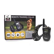 Rechargeable Remote Dog Training Collar with Vibration, Beep & Shock, by Downtown Pet Supply (for ONE DOG)