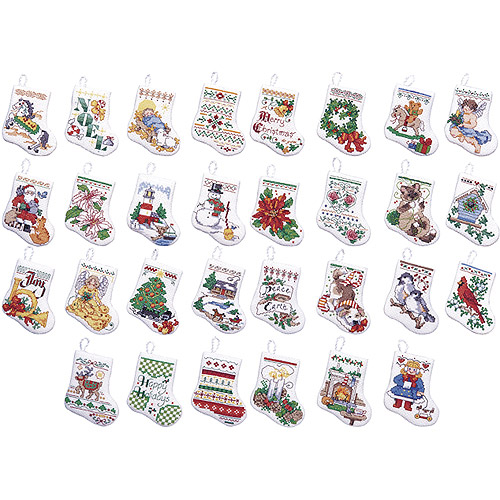 Bucilla - Tiny Stocking Ornaments, Counted Cross Stitch Kit