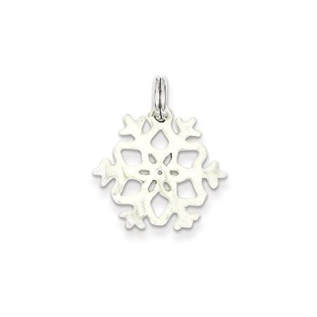 Enamel Snowflake Charm - .925 Sterling Silver Enameled Snowflake Charm Pendant MSRP $39