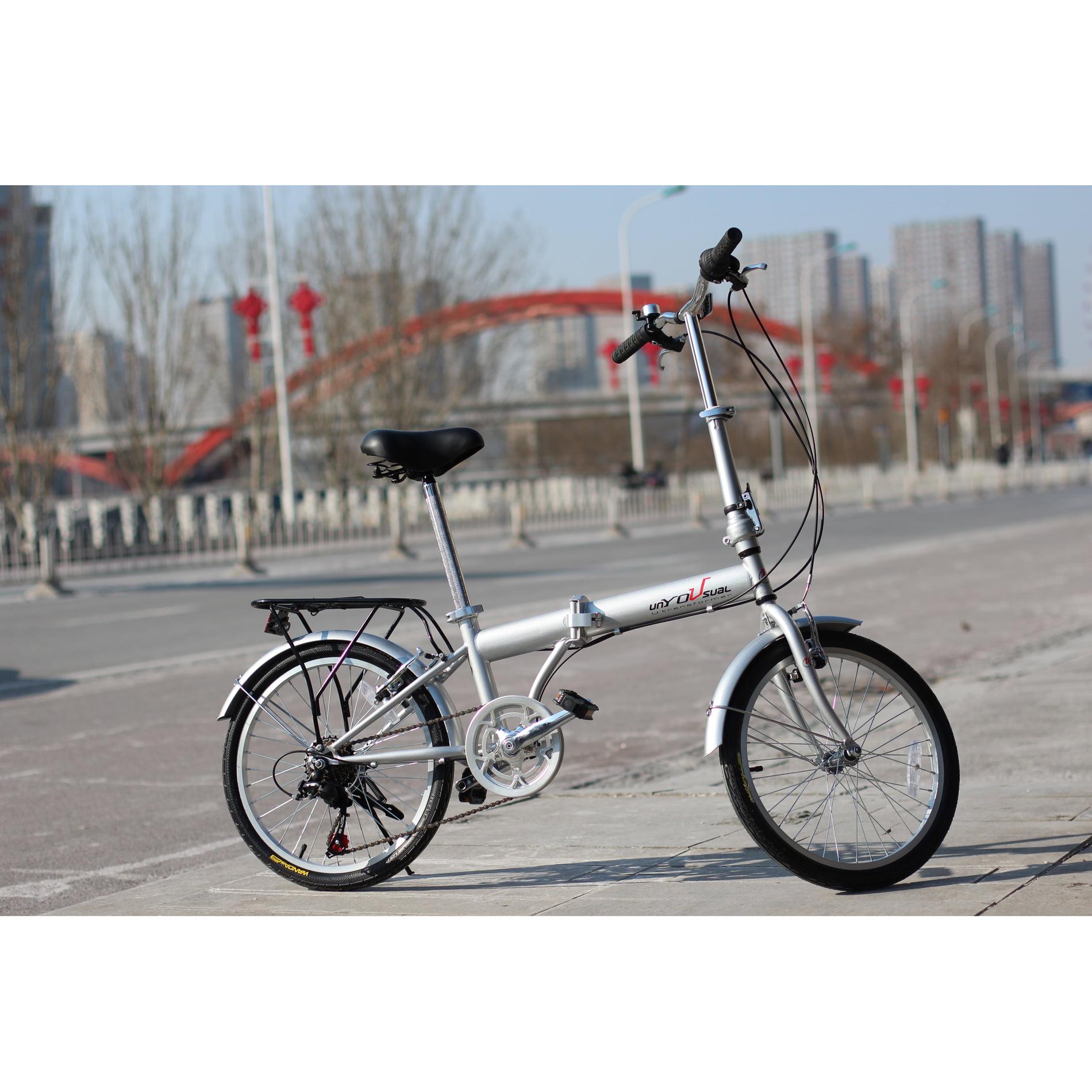 """unYOUsual U transformer 20"""" Folding City Bike Bicycle 6 Speed Shimano Gear"""