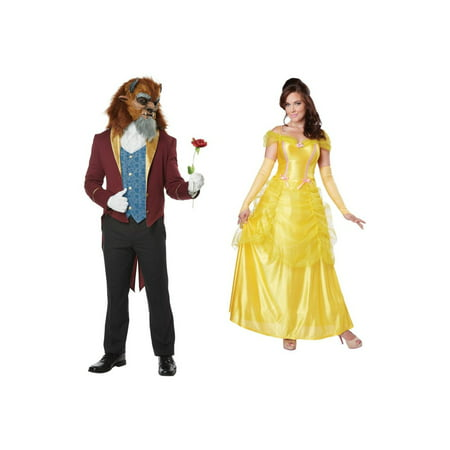 Beast Men and Belle Women Couples Costumes](Belle Costume Womens)